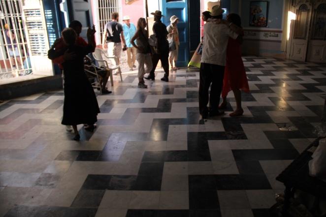 Dancing in the Music Salon in Trinidad